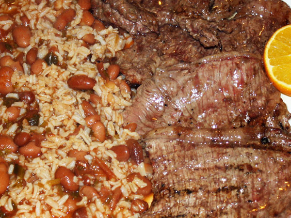 Restaurante Adega Nova - picanha arroz feijao